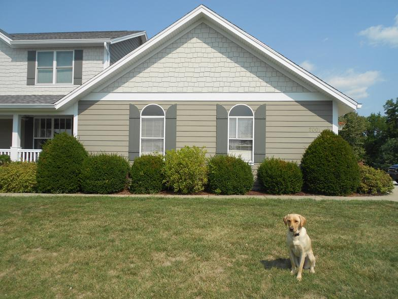 james hardie staggered shake and khaki brown lap siding in o'fallon