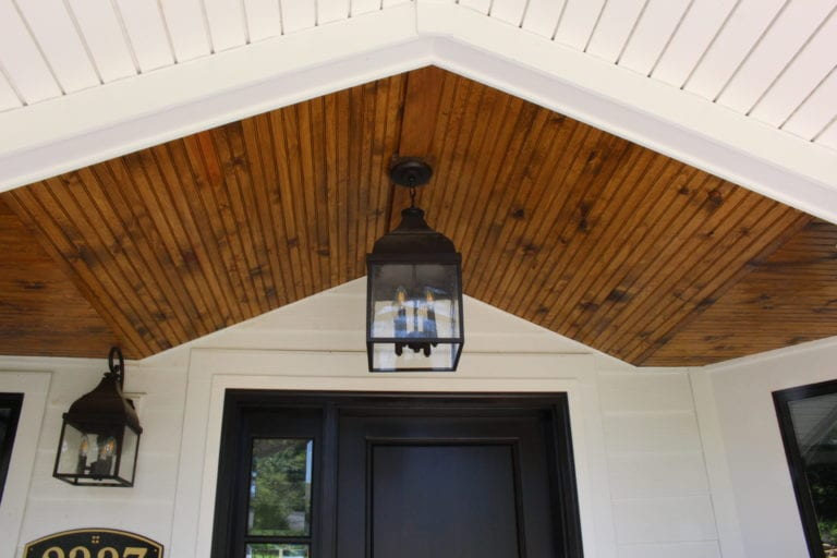 Bead Board Porch Ceiling in Kirkwood