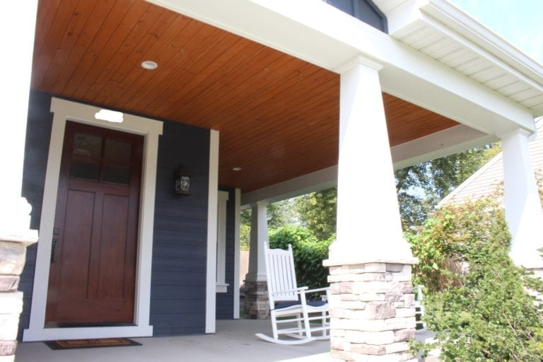 tongue and groove car porch ceiling